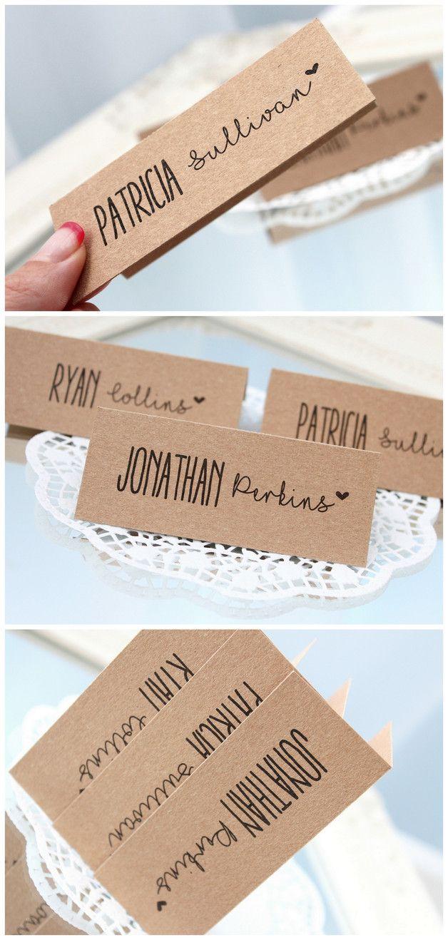 Tischkarten Hochzeit Soft Stripes