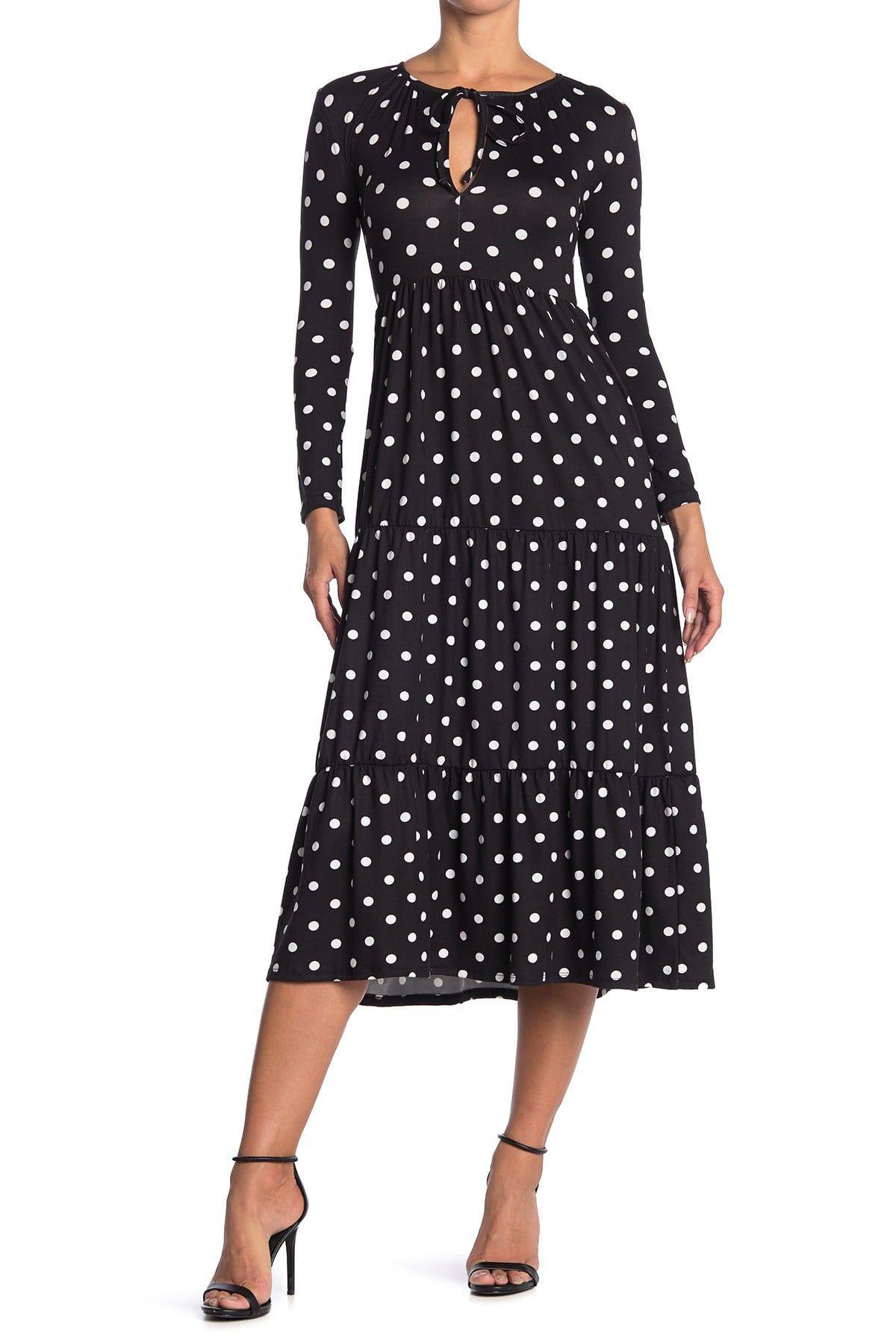Velvet Torch Polka Dot Keyhole Long Sleeve Midi Dress Nordstrom Rack Long Sleeve Midi Dress Stylish Midi Dress Velvet Torch [ 1800 x 1200 Pixel ]