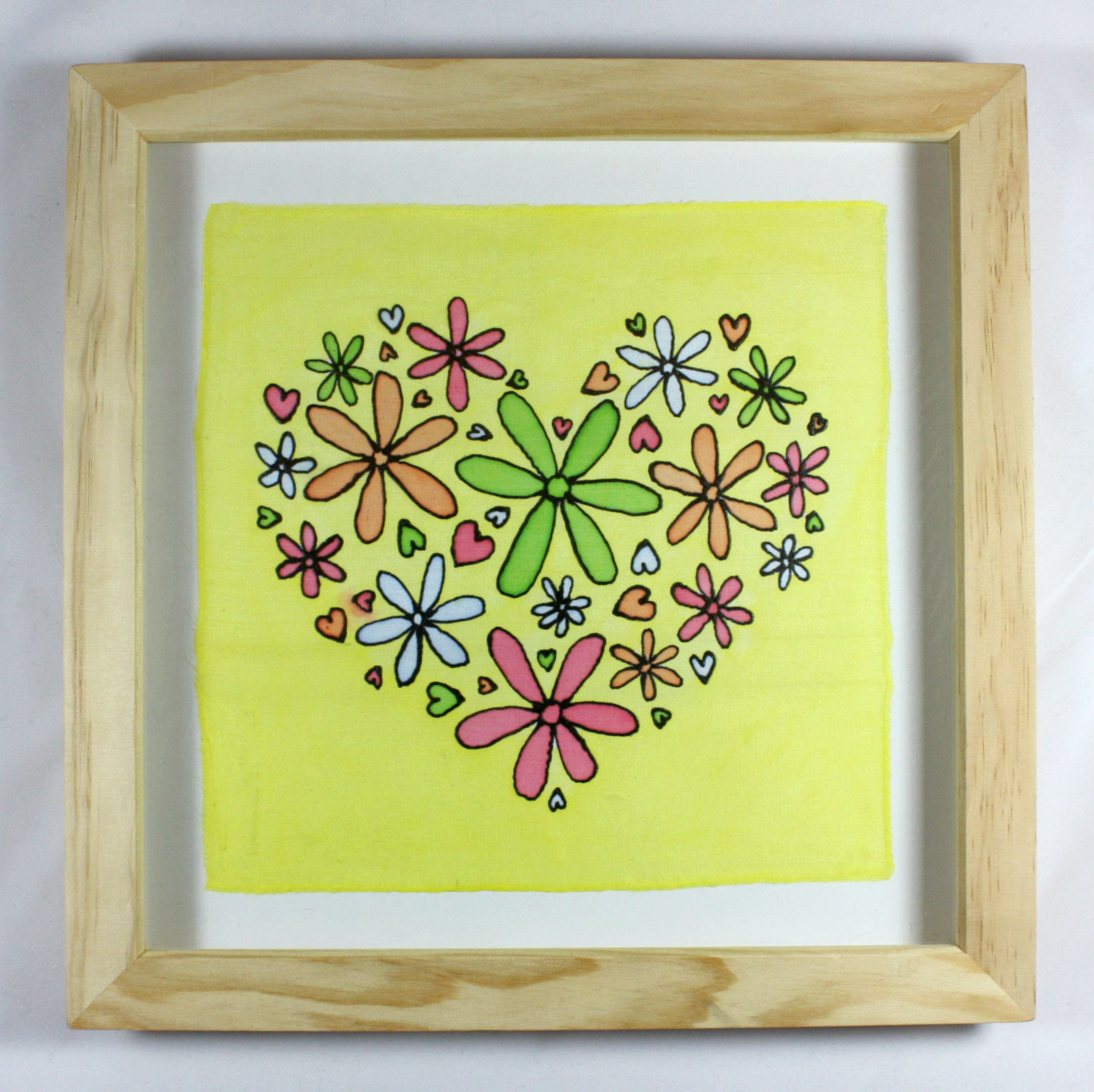Silk Painted flower heart by Nicola Davis Crafts | Book Cover ...