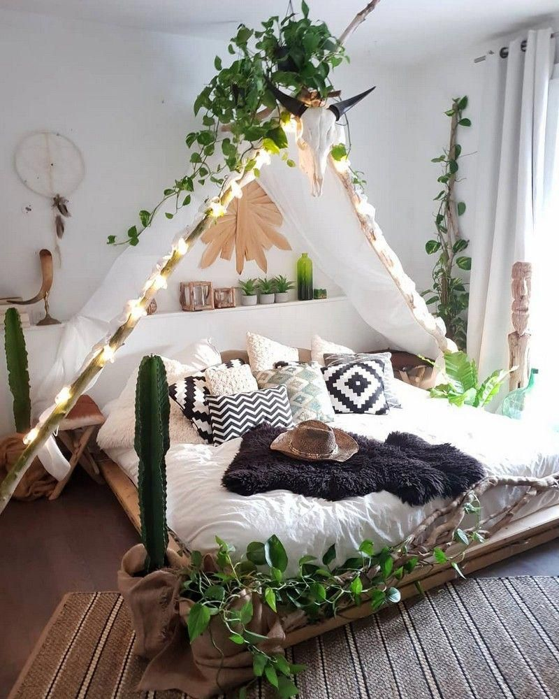 Bohemian Bedroom Decor And Bed Design Ideas #bohemianbedroom #bohemianbedrooms