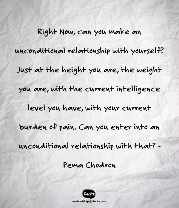 Unconditional relationship