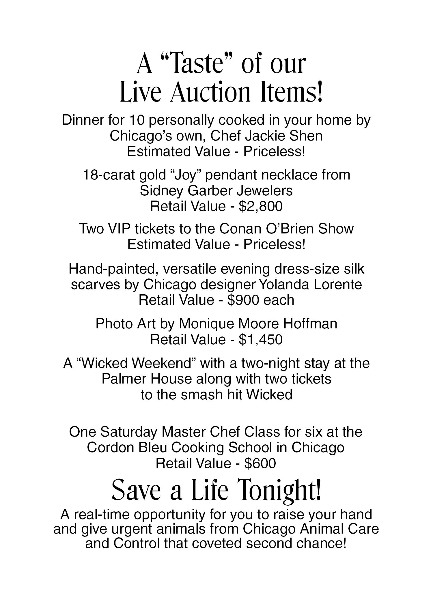 Live Auction Ideas For Charity Events  Silent Auction Ideas