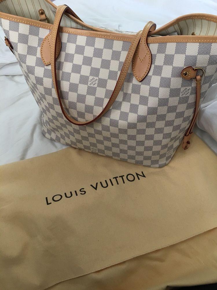 cf655075f34c AUTHENTIC Louis Vuitton Damier Azur Neverfull MM pre-loved