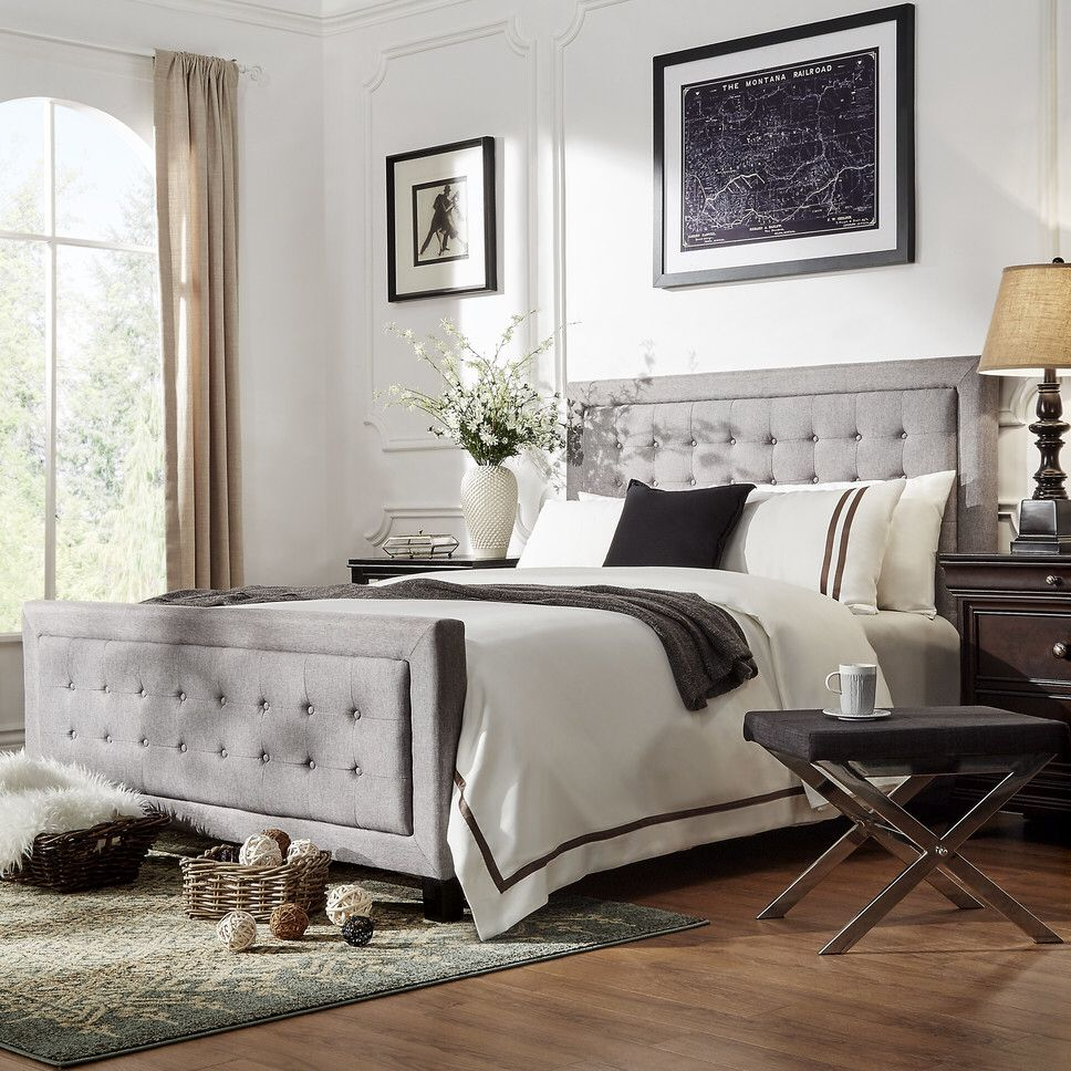 Aurelia Upholstered Panel Bed (With images) Upholstered