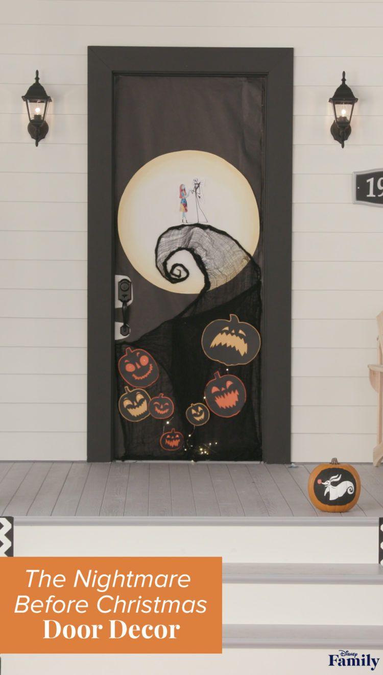What's This? 'The Nightmare Before Christmas' Door Decor! #halloweendoordecorations