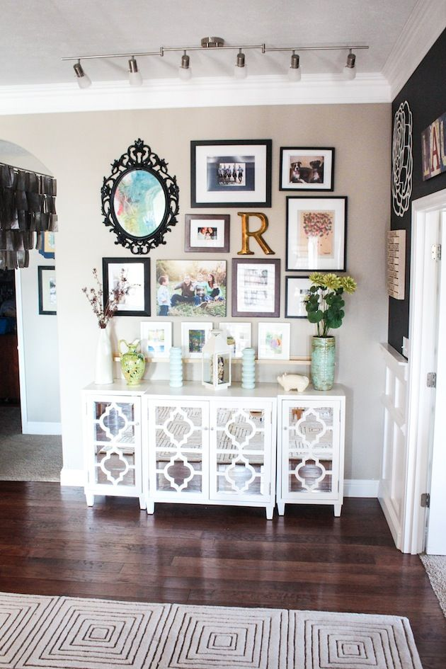 Dining room wall makeover love this so perfect if we for Dining room entrance designs