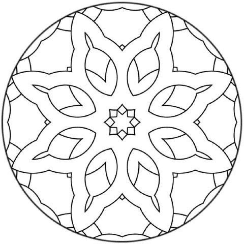 Mandalas para NOVATOS - Desenho de Mandala Gratuito para colorir ...