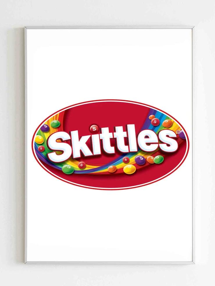 Skittles Logo Poster Skittles Logo Skittles Poster