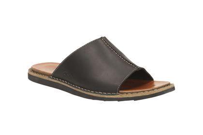 09a4afee Clarks Lynton Slide - Cuero Negro - Sandalias casual para hombre | Clarks