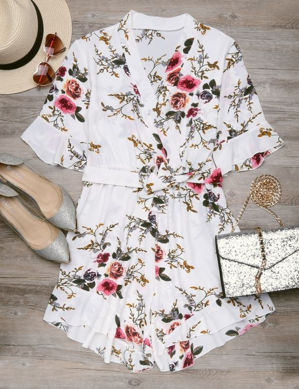 47d79ecd0543 Material: Polyester Blend Rompers For Teens, Outfits For Teens, Floral  Tops, Teen