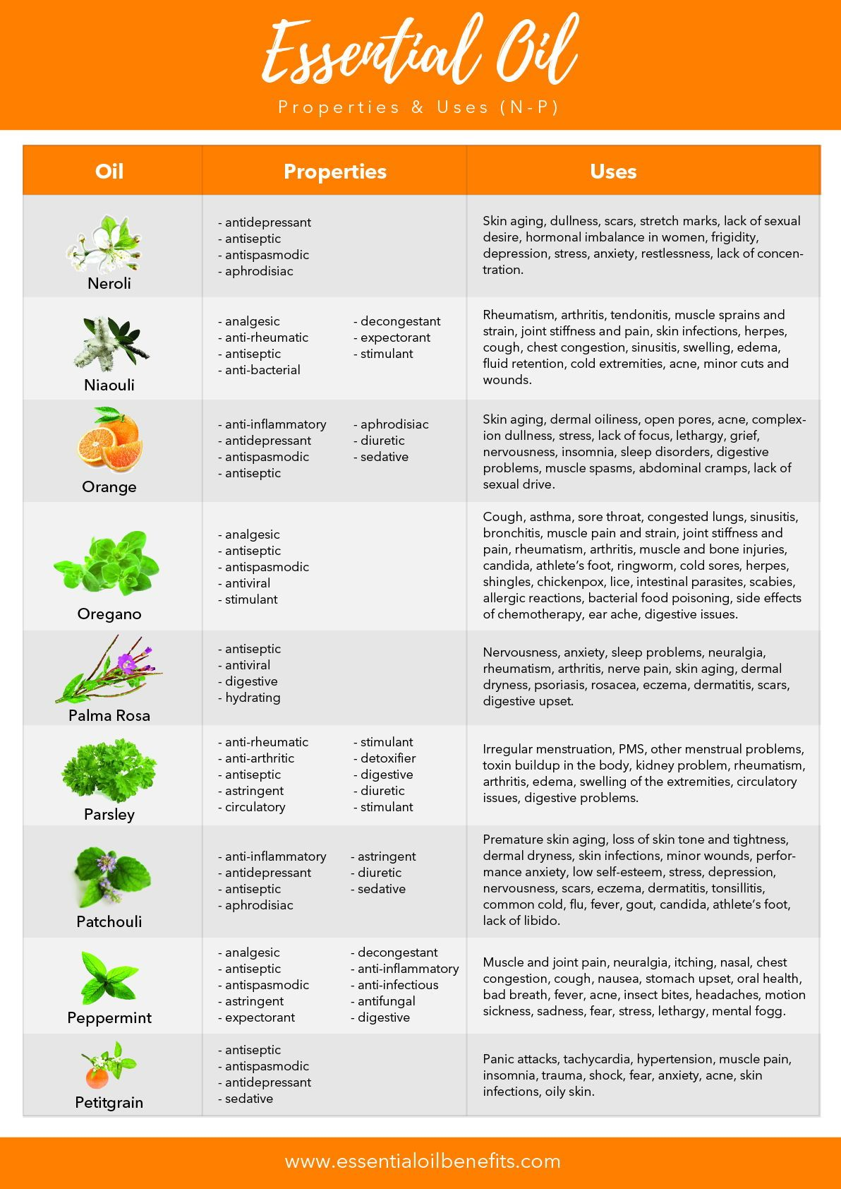 photo about Printable List of Essential Oils and Their Uses identified as Record Of 60 Crucial Oils, Their Positive aspects And Employs (PDF