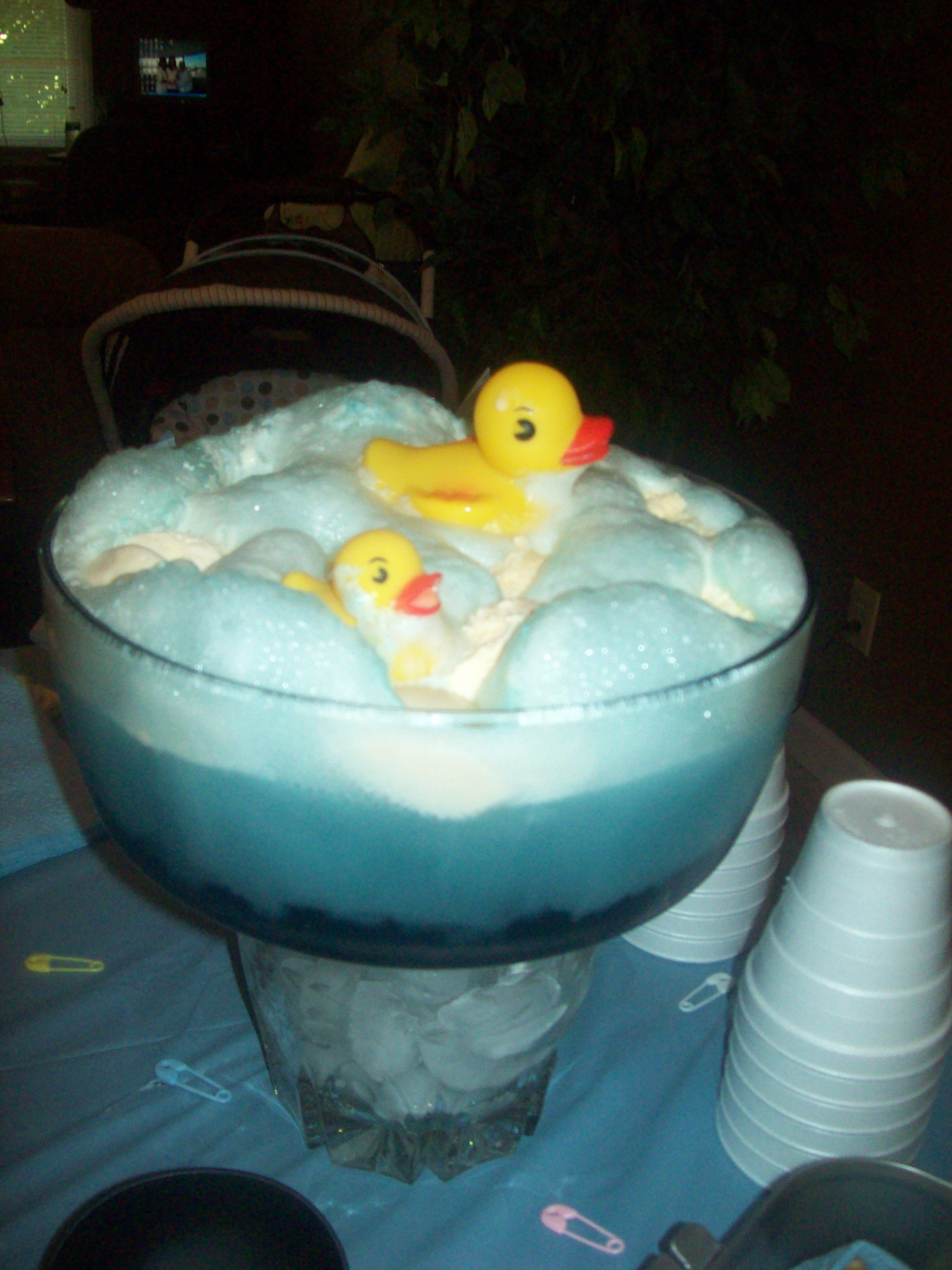 My Baby Shower Punch.... 7up, Blue Mt. Dew And Vanilla
