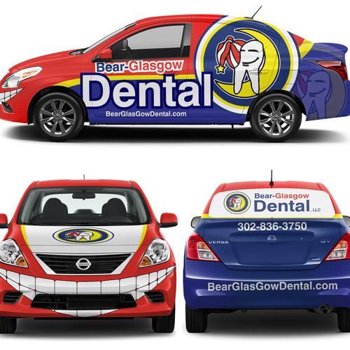 Create a kick-ass car wrap design for family dentistry | Car, truck or van wrap contest
