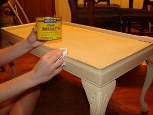 Distressing Using Candle Wax Amp Chalk Paint Painted