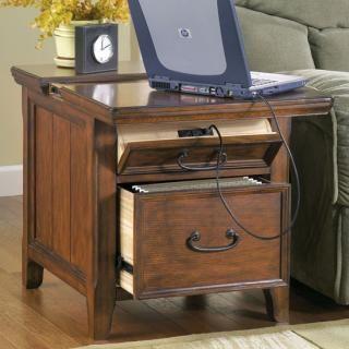 Ashley Furniture Signature Design Woodboro Media End Table at Big ...