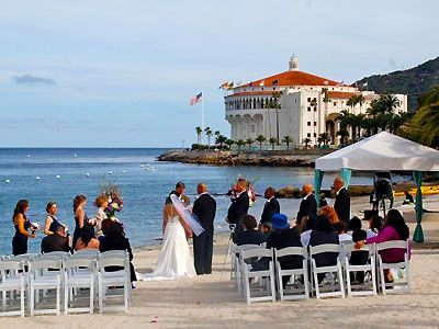 Descanso Beach Club Santa Catalina Island Weddings Avalon