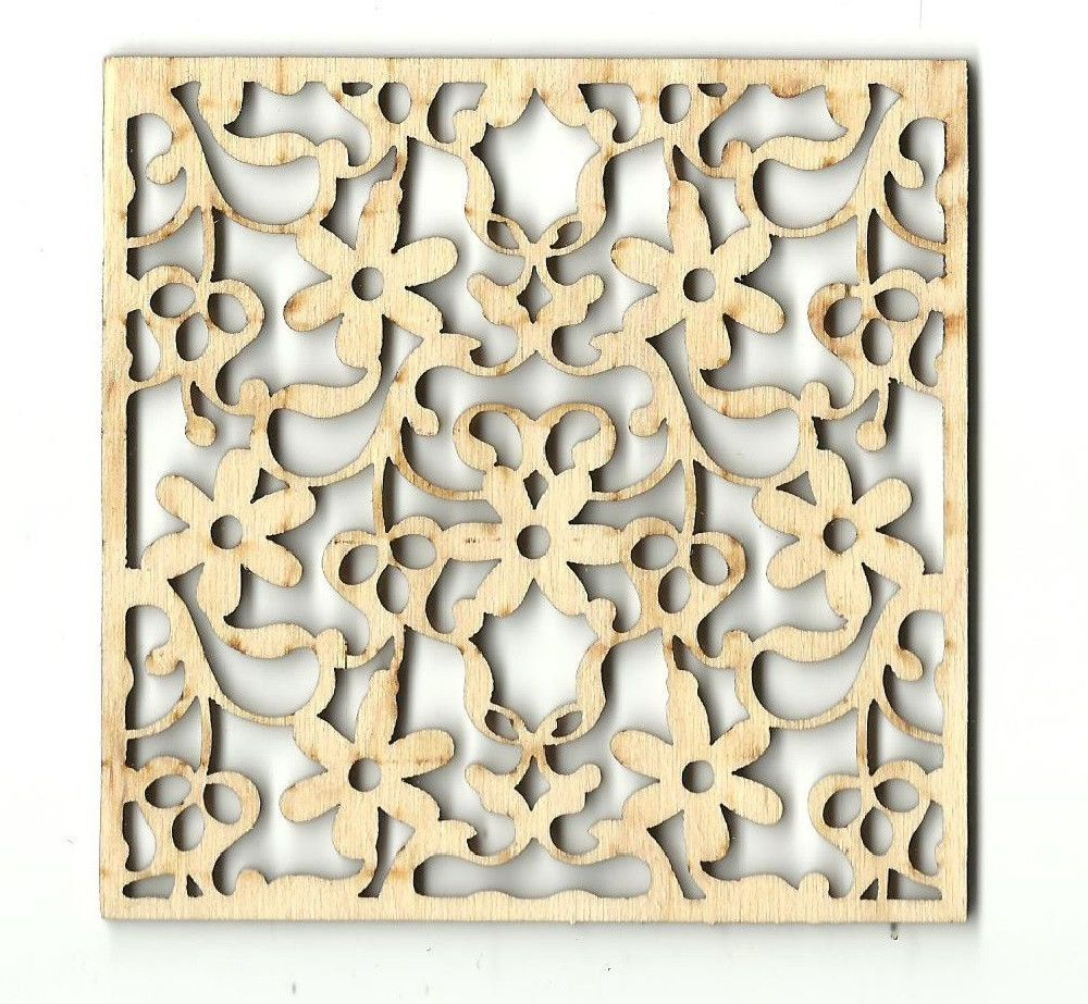 Floral decorative coaster wall decor unfinished laser cut wood floral decorative coaster wall decor unfinished laser cut wood cstr10 amipublicfo Choice Image