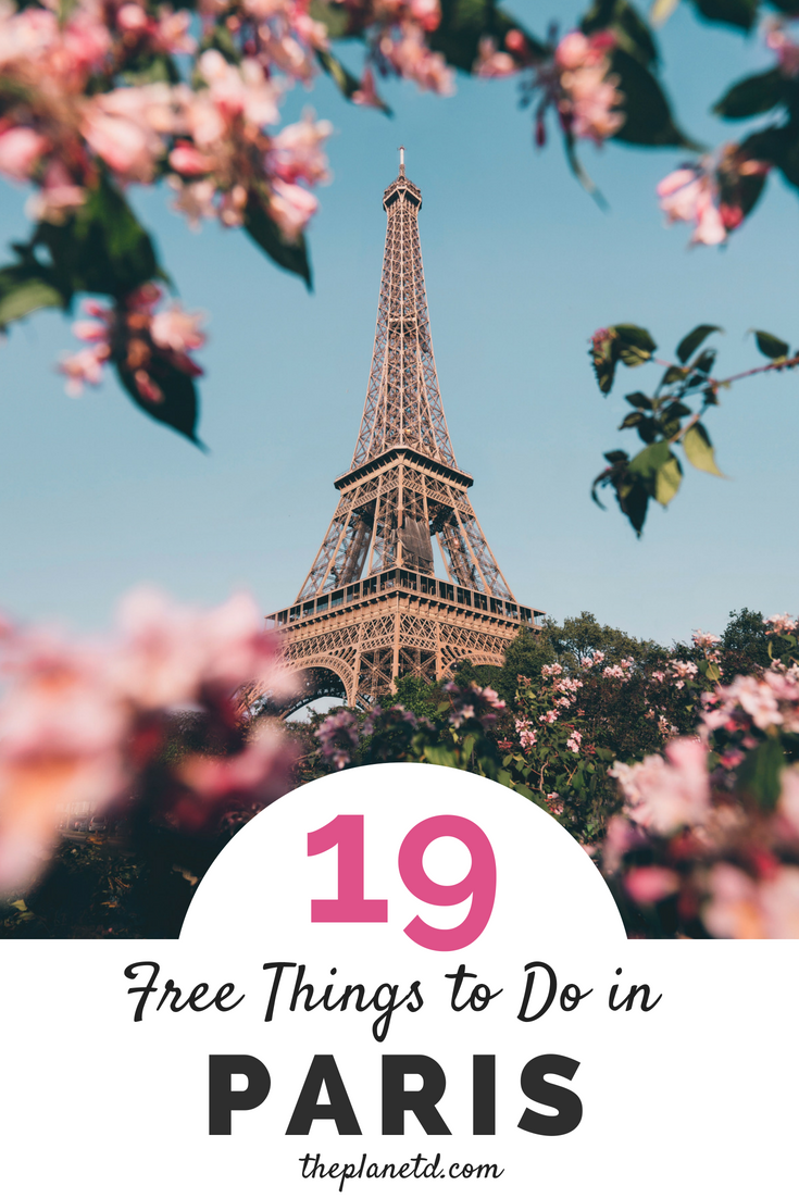 A Paris, France budget guide packed with free things to do. Visit the local museums on free days for a glimpse of French culture and art. Don't break the bank in this expensive city by visiting free attractions like the Eiffel Tower, window shopping at the Champs-Élysées, and exploring the alleyways packed with cafes and galleries in Montmartre. | Blog by the Planet D #Paris #France #Travel #Europe #TravelTips #TravelGuide #Wanderlust #BucketList