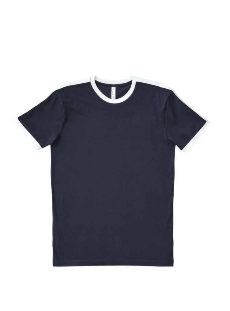 Download Lat Apparel Men S 100 Combed Ringspun Cotton Fine Jersey Crew Neck Short Sleeve Soccer Ringer Tee Kaos Model Pakaian Pakaian