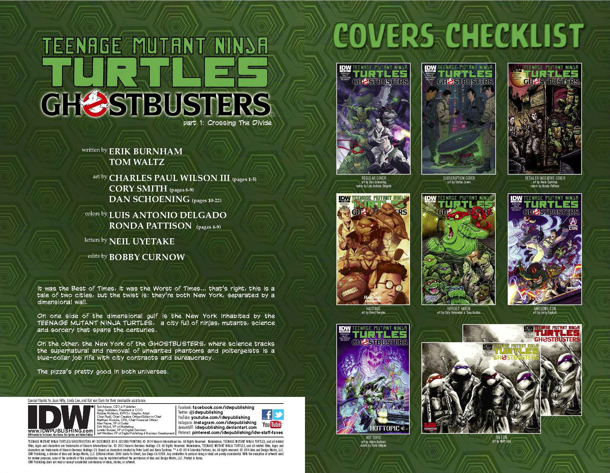 TMNT/Ghostbusters covers guide.