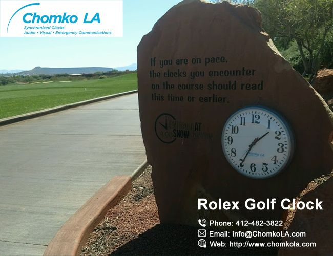 Install our Rolex Golf Clock in your Golf course and give