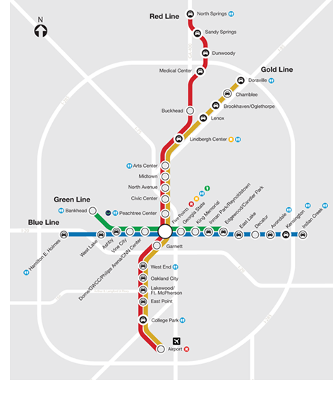 MARTA Schedules And Maps Rail Schedules or Route stuff Pinterest