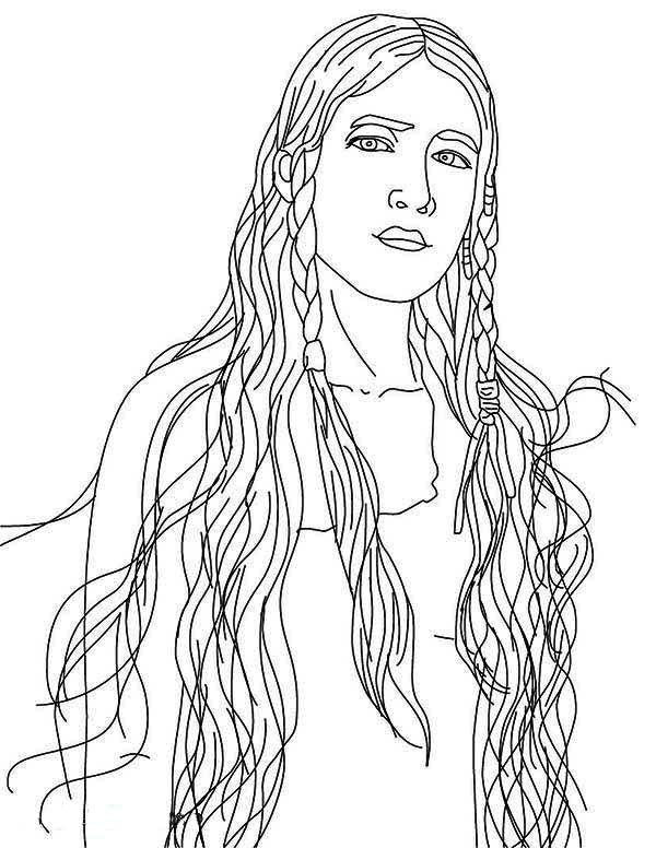 Native American Girl Coloring Pages