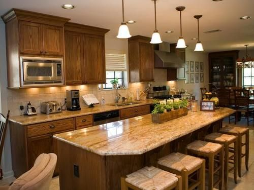 Kitchen Islands With Table Seating