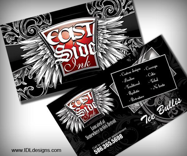 Creative Tattoo Business Cards Ikuzo Tattoos Unique Business Cards Card Tattoo Creative Tattoos