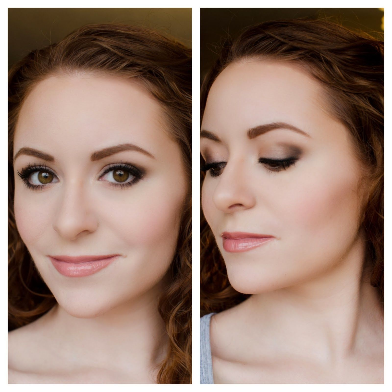 Soft romantic smoky eye look using our nudetude neutral eyeshadow makeup beauty fashion cream contour and eye look tutorial featuring thebalm nude tude palette baditri Image collections