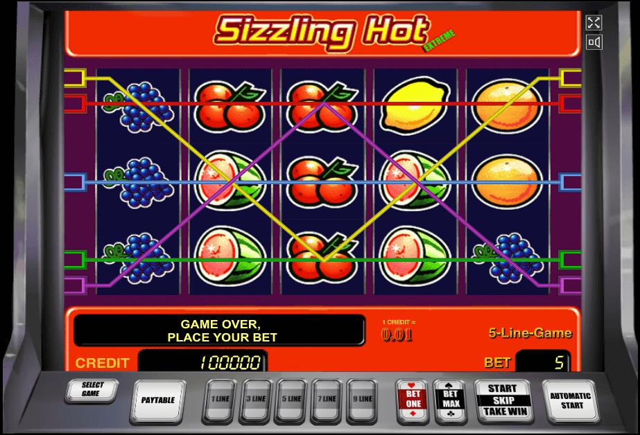 sizzling hot игровые автоматы