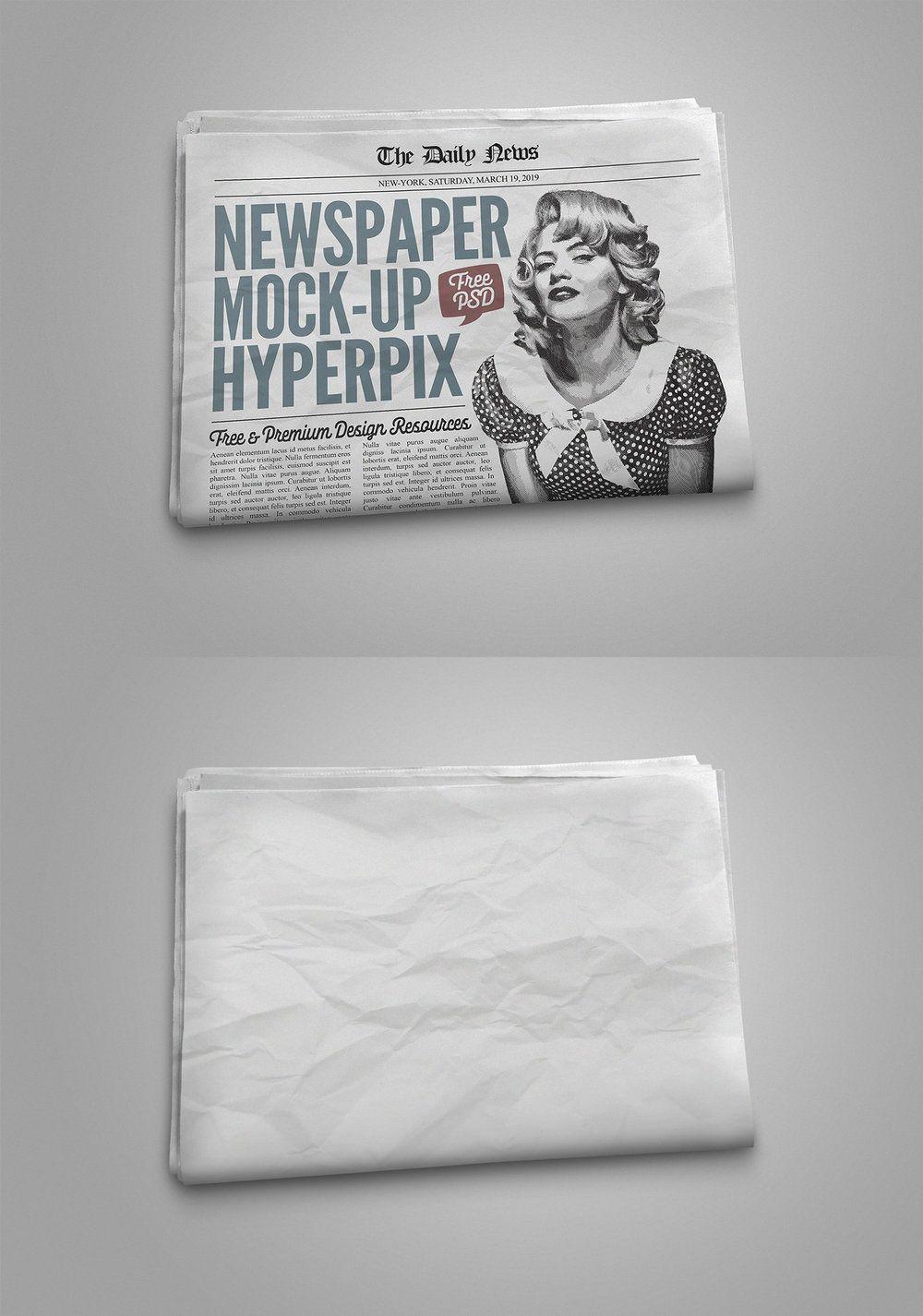 Download Free Photorealistic Newspaper Mockup Pixel Surplus Resources For Creators Graphic Design Mockup Free Mockup Free Graphic Design