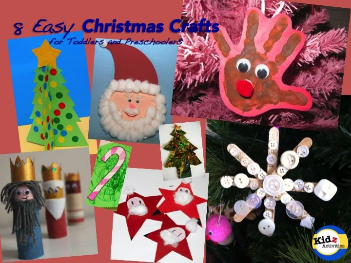Kidz Activities lists 8 Easy Christmas Crafts for Toddlers and