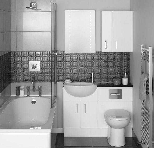 kleine-baeder-einrichten-ideen-moebel-wanne-dusche-kombination | Bad ...