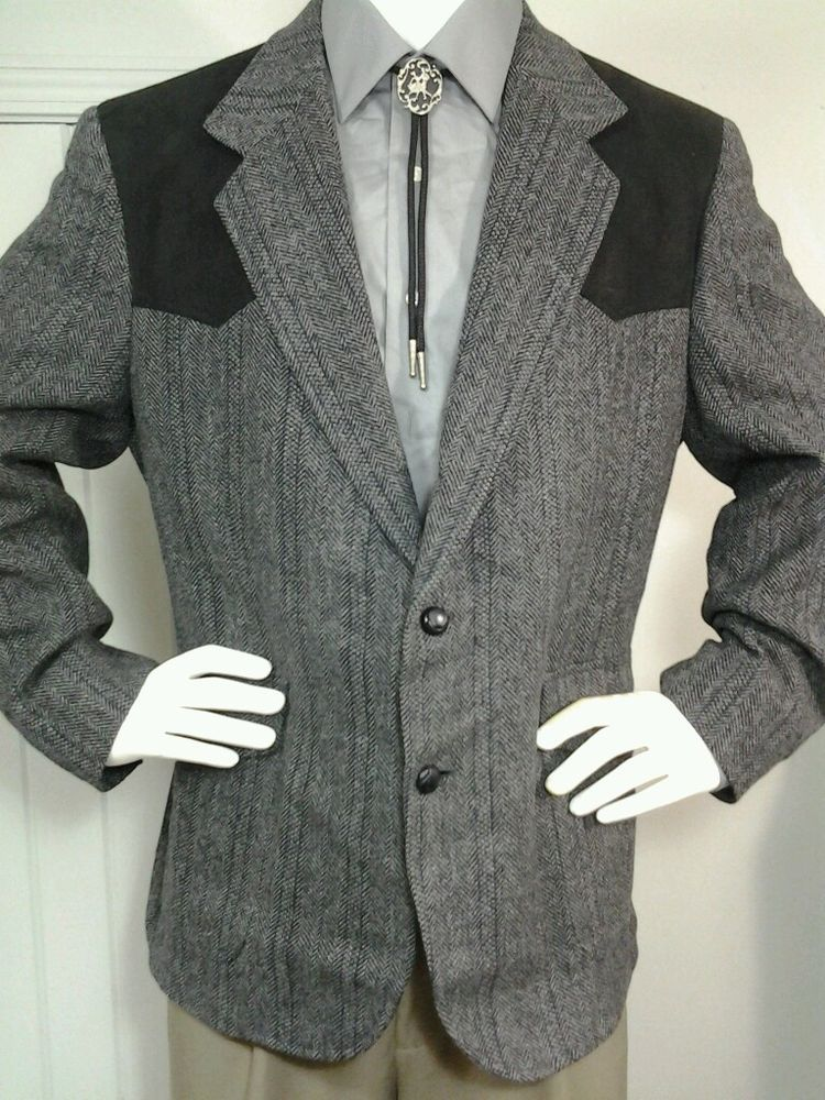 Pendleton Wool Western Rockabilly Black Coat Blazer Jacket