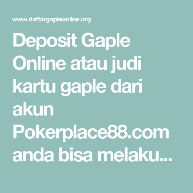 Deposit Gaple Online (Dengan gambar) | Kartu, Pelayan