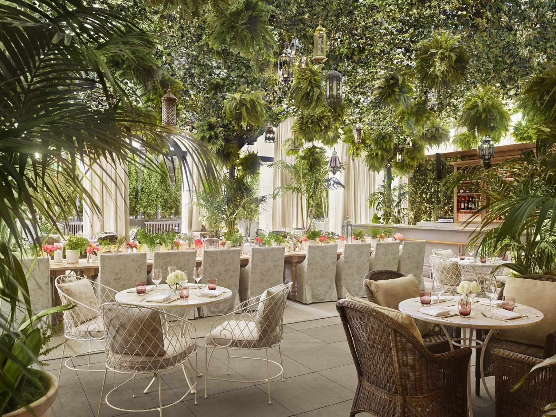 Garden Table Reservations Garden Reservations Table In 2020 Edition Hotel Terrace Restaurant Rooftop Bars Nyc