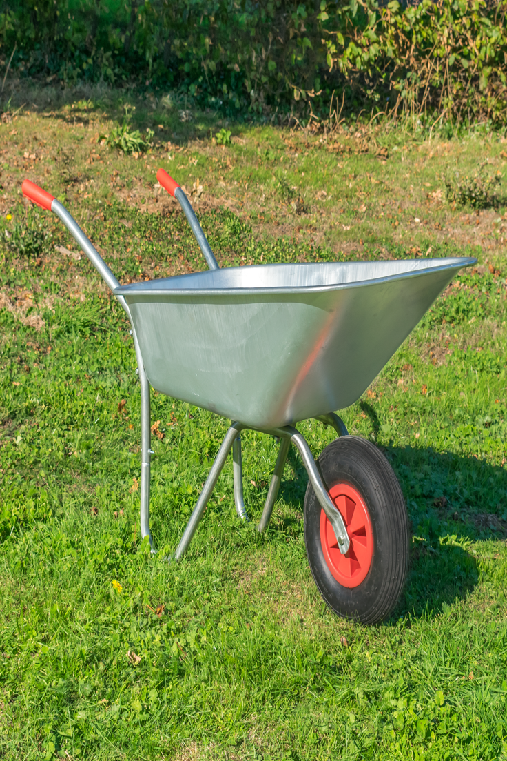 Heavy Duty Wheelbarrow 80l Litre Galvanised Steel Outdoor Wheel Barrow Pneumatic 5060502535979 Ebay Heavy Duty Wheelbarrow Wheelbarrow Garden Wheelbarrow
