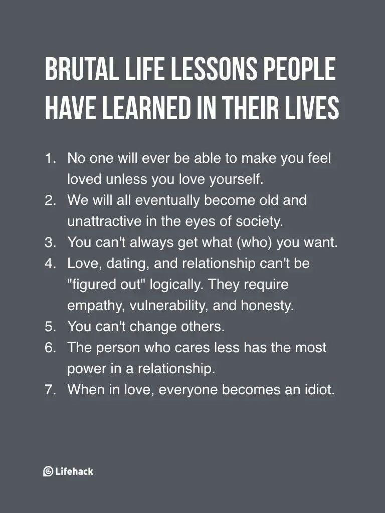 6 HUGE real-life reality check   Life lessons, Self ...
