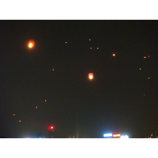 Light balloons filling the air - breathtaking