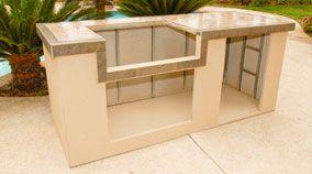 Prefab Outdoor Kitchen Island Oxbox Kit