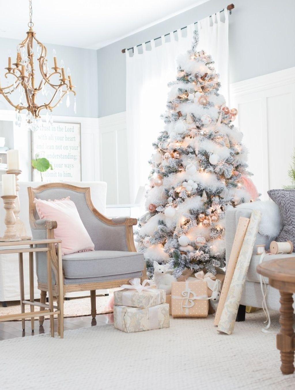 50 Glistening Vintage White Christmas Decoration Ideas | Christmas ...