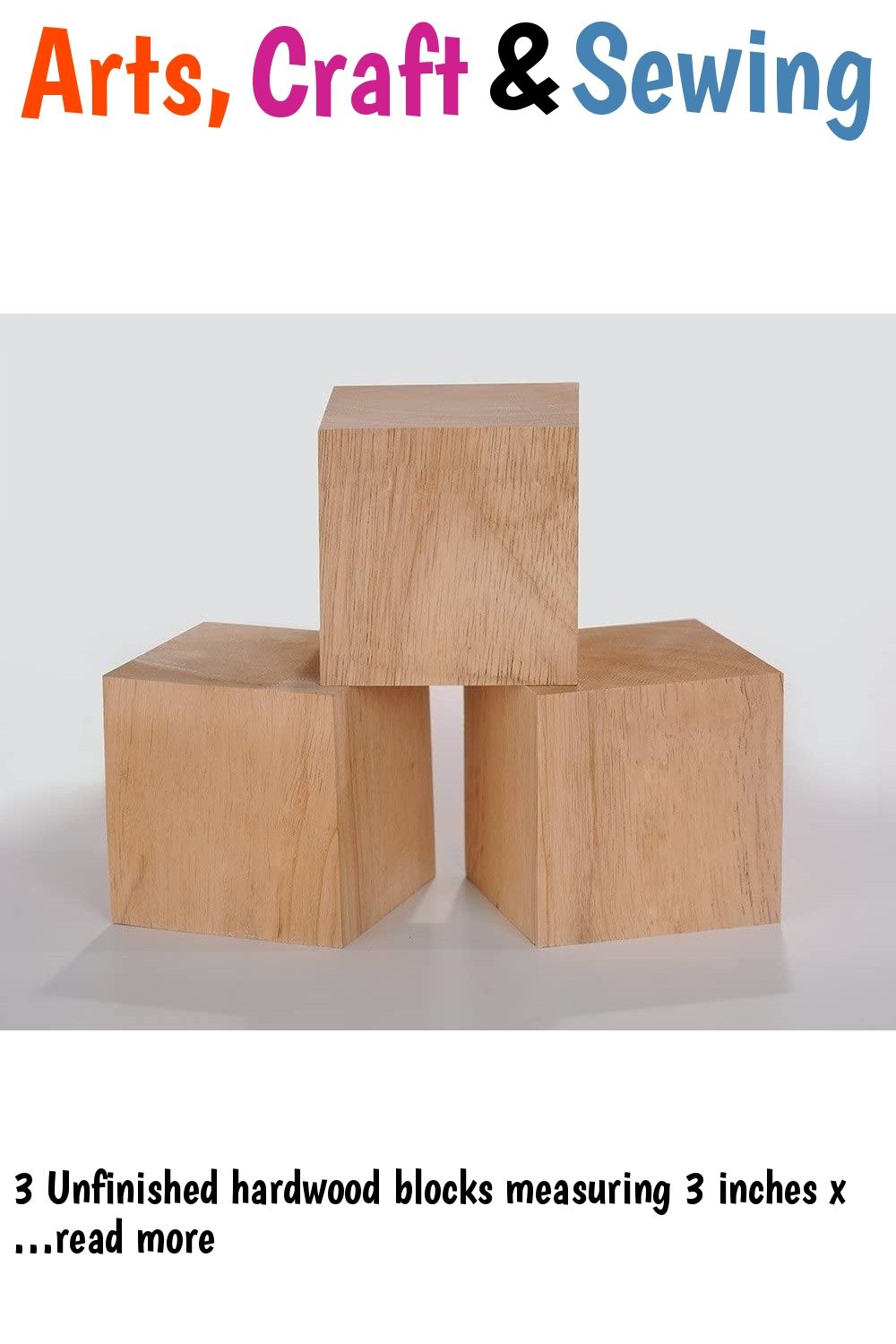 3 Inch Solid Wood Blocks Pack Of 3 In 2020 Crafts Wooden Crafts Wood Blocks