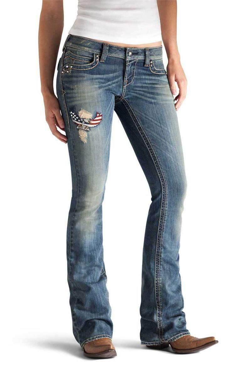 123ddfe6c1e On sale   HeadWest  Ariat Women s Ruby Glory Cloud Jeans  patriotic ...