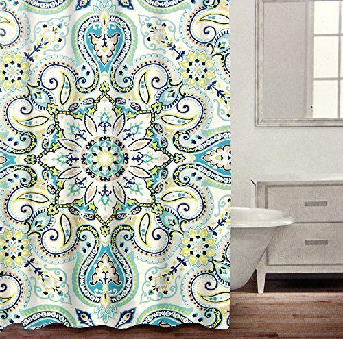 Caro Home Luxury Bohemian Mandala Medallion Cotton Shower Https