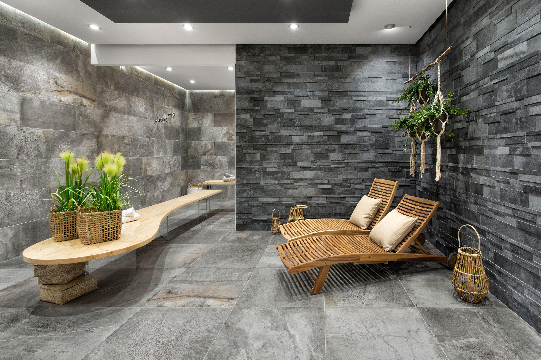 Primecollection Cima Di Castello 30x60 Cm Grigio Pccdc53060mur In 2020 Bodenfliese Sauna Fur Zuhause Spa Zu Hause