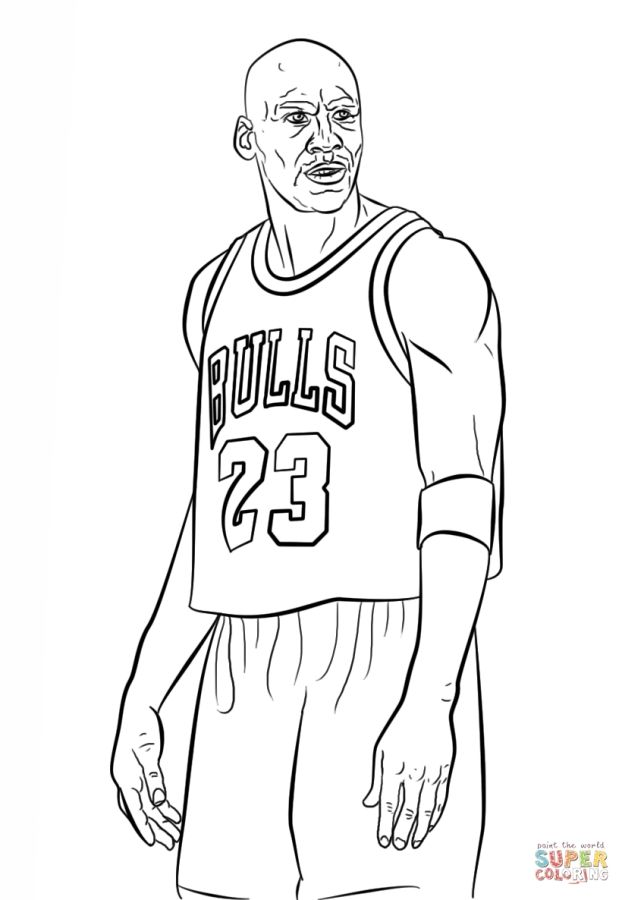 Michael Jordan NBA coloring pages Sports Coloring Pages