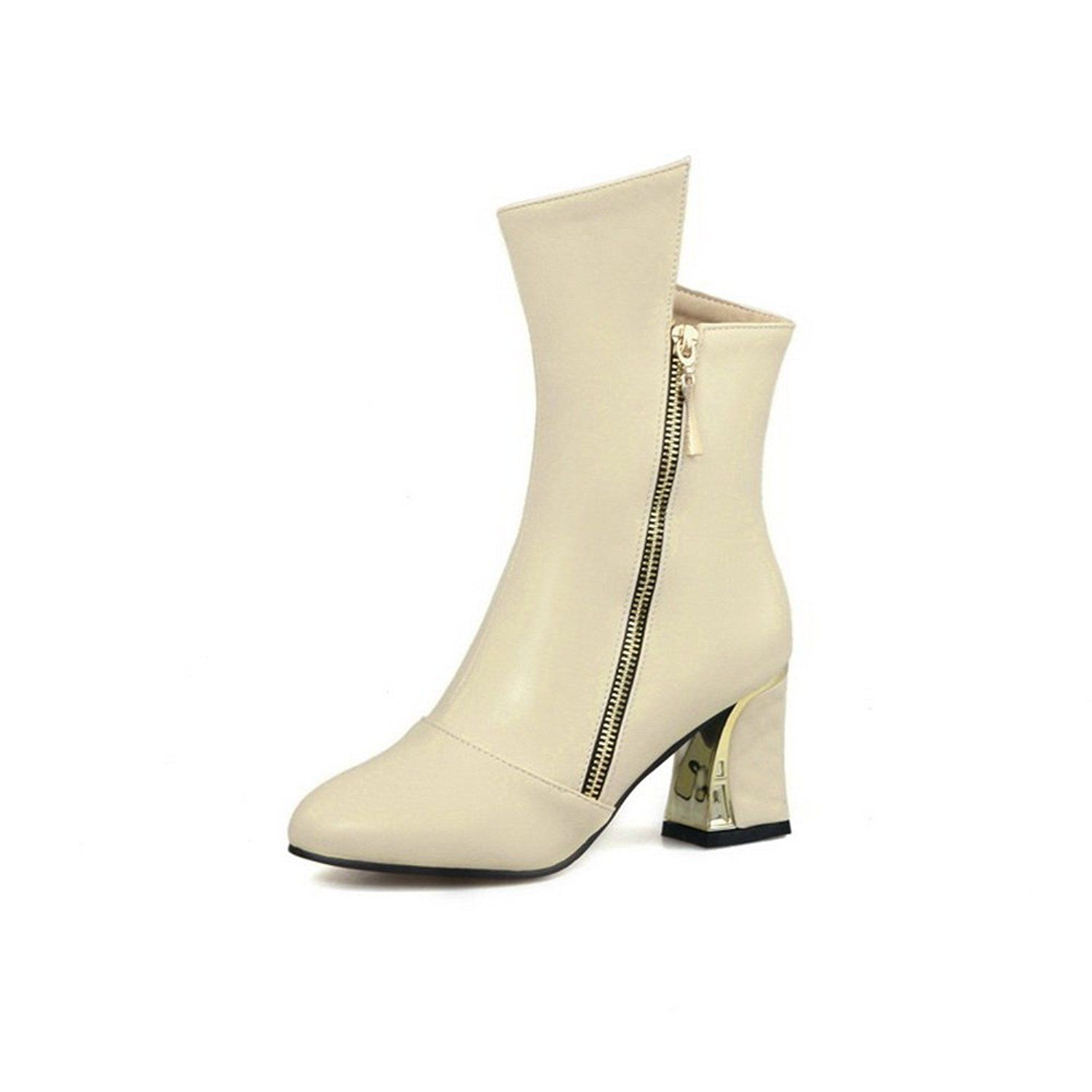 Girls Metal Ornament Comfort Mule Imitated Leather Boots