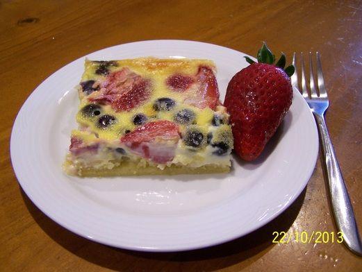 Berry Custard Slice. Find the recipe at www.whatscookingella.com/berry-custard-slice.html