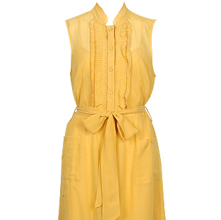 Pleat Silk Cotton Dress